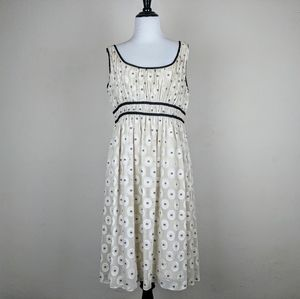 Adrianna Papell Cream Shimmer Circle Dress